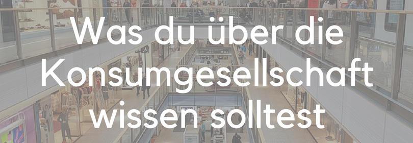 Konsumverzicht Konsum Konsumgesellschaft