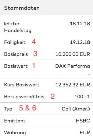 option binäre Österreich dax optionsschein call